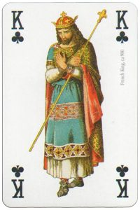 #PlayingCardsTop1000 – King of clubs Modiano deck Middle Ages
