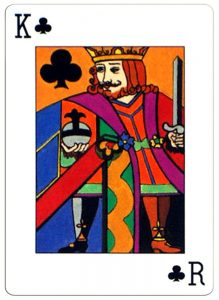 King of clubs Neo Classic playing cards by artist Erna Droesbeke