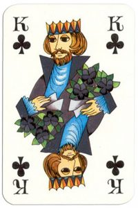 King of clubs Patience Gracia by artist Hannelore Heise