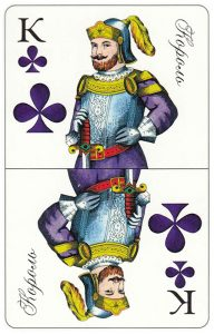 King of clubs Patience cards for fortune telling Russia