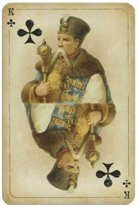 #PlayingCardsTop1000 – King of clubs Russian historical cards