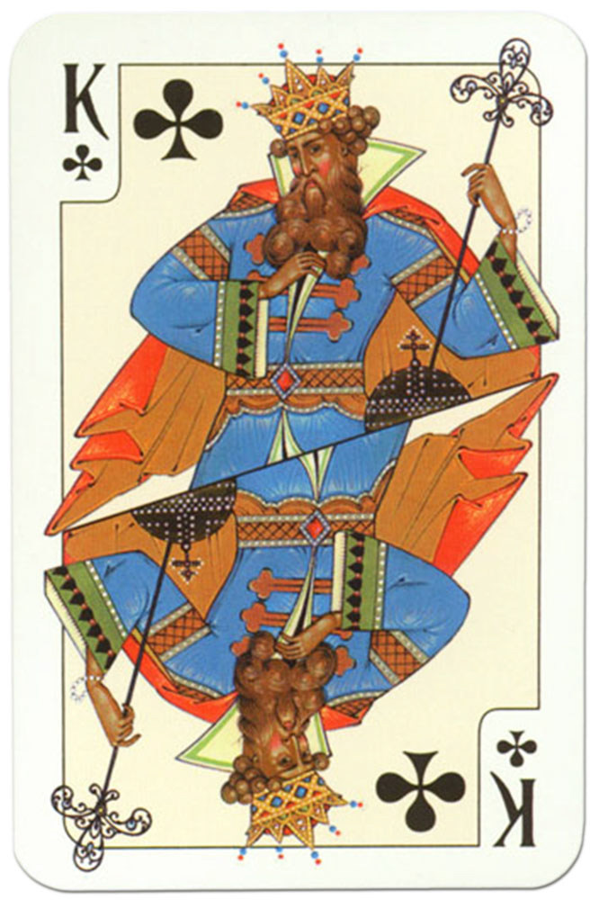 King of clubs Russian traditional style playing cards