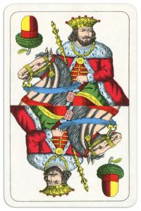 King of clubs Wilhelm Tell cards from Austria