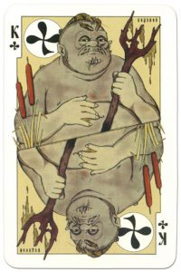 King of clubs dark power Russian fairy tale cards