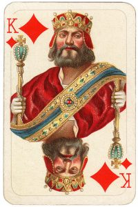#PlayingCardsTop1000 – King of diamonds Allerfeinste Schubert Whist beautiful playing cards