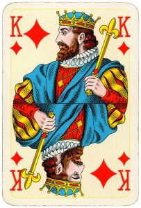 King of diamonds Bridge Export classic playing cards by Handa