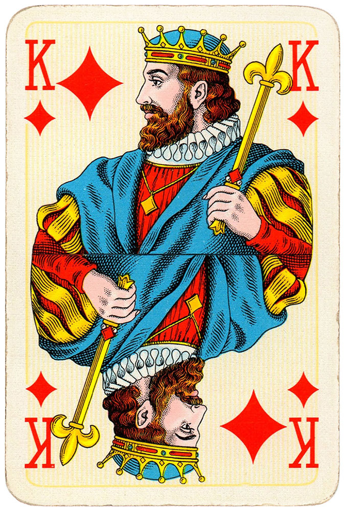 King of diamonds Bridge Export classic playing cards by ...