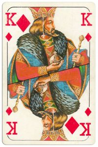 King of diamonds Bulgarian Dunav bridge cards