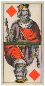 King of diamonds Joseph Glanz Das Constitution Tarock vintage card image