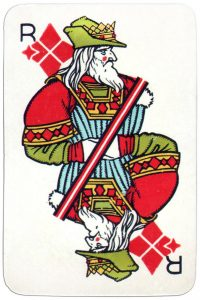 King of diamonds Medieval playing cards deck