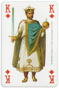King of diamonds Modiano deck Middle Ages