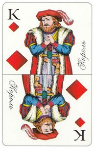 #PlayingCardsTop1000 – King of diamonds Patience cards for fortune telling Russia