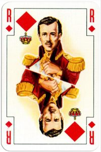 King of diamonds Renovation playing cards designed by Jean Hoffmann