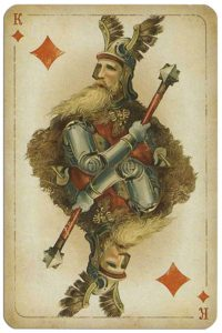 King of diamonds Russian historical cards