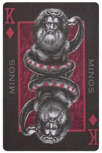 #PlayingCardsTop1000 – King of diamonds card from Inferno by Gustave Dore deck Bycycle_2
