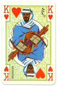 King of hearts Arab playing cards by Piatnik