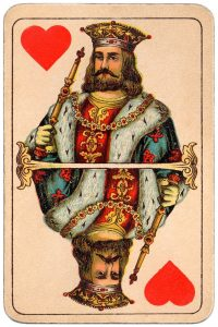 King of hearts Balkan whist cards published in Hungary