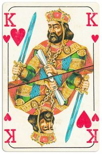 King of hearts Bulgarian Dunav bridge cards
