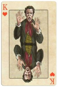 #PlayingCardsTop1000 – King of hearts Edgar Allan Poe deck of playing cards by Bicycle