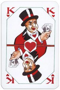#PlayingCardsTop1000 – King of hearts Latvian playing cards designed by Janis Metra