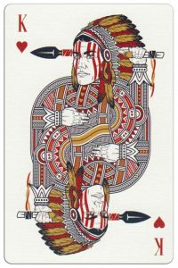 #PlayingCardsTop1000 – King of hearts Malam Deluxe USA playing cards