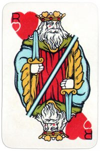 King of hearts Medieval playing cards deck