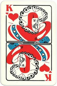King of hearts Modernist artistic style cards from Russia