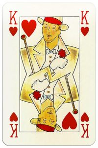 #PlayingCardsTop1000 – King of hearts Orient Express playing cards by Piatnik