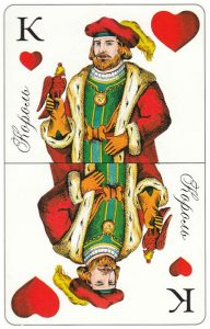 King of hearts Patience cards for fortune telling Russia