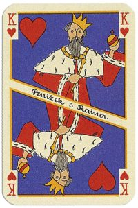 King of hearts Penizek Rainer precious furs playing cards