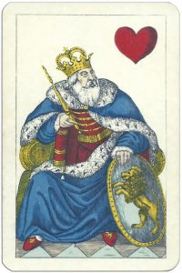 King of hearts Polish playing cards published in Russia XIX c