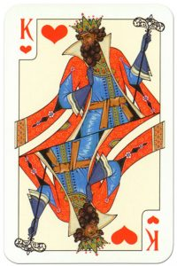 #PlayingCardsTop1000 – King of hearts Russian traditional style playing cards