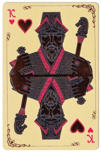 King of hearts Silk Road cards from Kazakhstan