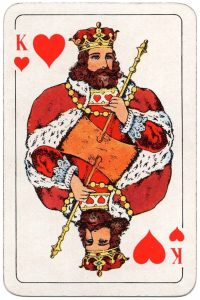 King of hearts Swedish Poker cards