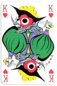 King of hearts Taro Okamato card deck Japan