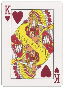 King of hearts deck for indian casinos in the USA