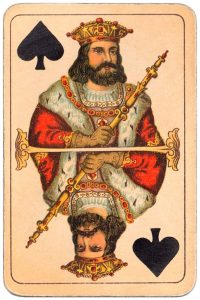 #PlayingCardsTop1000 – King of spades Balkan whist cards published in Hungary