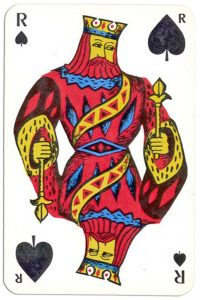 King of spades Banque Nationale de Paris deck