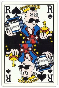 King of spades Breese Auto Shop advertising cards