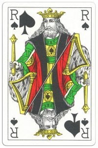 #PlayingCardsTop1000 – King of spades Classic Belgian cards