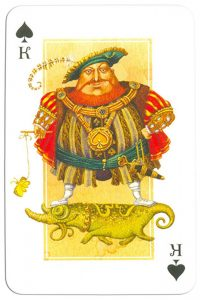 #PlayingCardsTop1000 – King of spades Contemprary art cards made for Zeldis