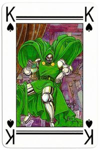 #PlayingCardsTop1000 – King of spades Lo Scarabeo deck Marvel by artist Marco Nizzoli