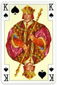 King of spades Luxury cards by Piatnik