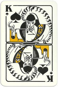 King of spades Modernist artistic style cards from Russia
