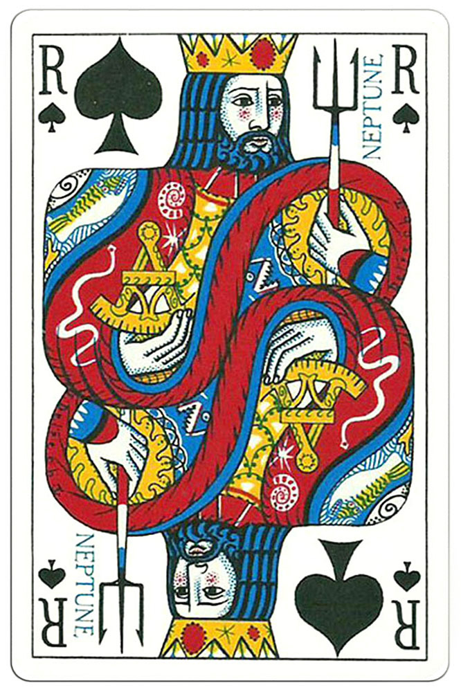 King of spades Ocean Playing Cards
