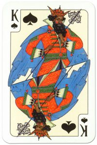 King of spades Russian traditional style playing cards
