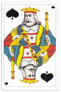 King of spades Swiss Card Troffen