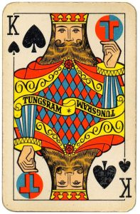 King of spades Tungsram lighting company Art Deco style playing cards