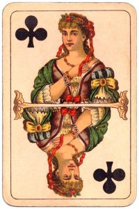 #PlayingCardsTop1000 – Queen of clubs Balkan whist cards published in Hungary