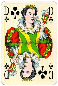 Queen of clubs Bridge Export classic playing cards by Handa